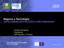 Negocio y tecnología: nuevas fuentes de innovación y valor
