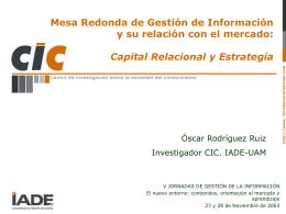 Capital Relacional y Estrategia