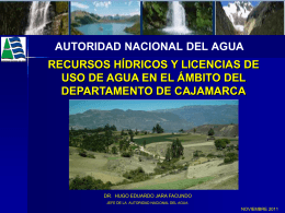 MMC/Año - Autoridad Nacional del Agua