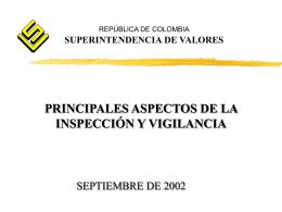 Aspectos de la inspección y vigilancia