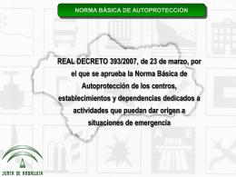 Norma Básica de Autoprotección, por Francisco Mata Martínez.
