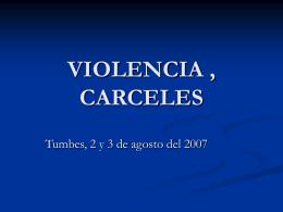 Violencia, cárceles - Pastoral de la Movilidad Humana