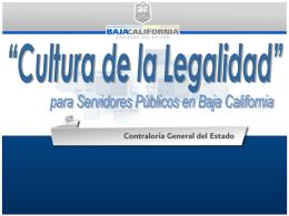 Cultura La Legalidad