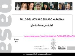 Vaticano ante abuso sexual masivo de sacerdote Karadima