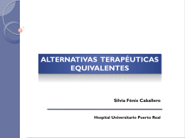 Alternativas terapéuticas equivalentes (ATE)