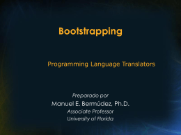 Bootstrapping - University of Florida