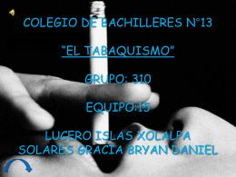 el tabaquismo - TIC3-310