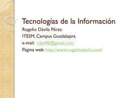 Tecnologías de la Información - Página oficial del Doctor Rogelio
