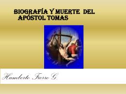 519biografia y muerte del apostol Tomas