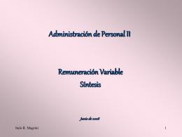 Tipos de Remuneración Variable 1