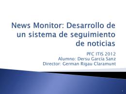 News Monitor: Desarrollo de un sistema de seguimiento de noticias