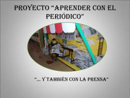 """proyecto """"aprender con el periódico"""""""