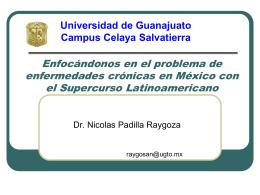 Enfocándonos en el problema de enfermedades crónicas en México