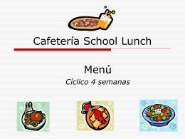 Cafetería School Lunch