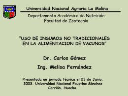Huacho-23 de Junio 2003 - Universidad Nacional Agraria La Molina