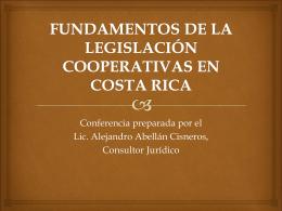 fundamentos de la legislación cooperativas en costa rica