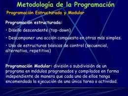 Metodología de la Programación.