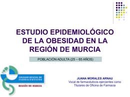estudio epidemiológico de la obesidad en la región de murcia