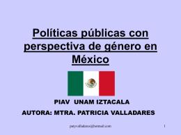 Políticas públicas con perspectiva de género en México