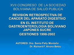 XVII CONGRESO DE LA SOCIEDAD BILIVIANA DE SALUD PUBLICA