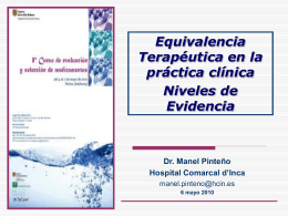 Niveles de evidencia de la equivalencia terapéutica