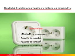 04 Instalaciones básicas y materiales empleados