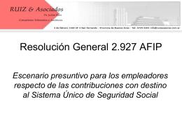 Las presunciones en la construccion - RG (AFIP)