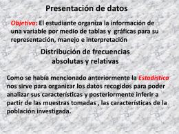 Est 3 presentacion de datos
