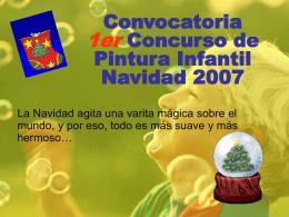 Convocatoria 1er Concurso de Pintura Infantil Navidad 2007