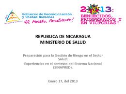 Presentación Nicaragua GR en Salud, 17-01