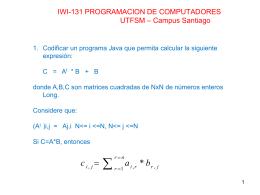 IWI-131 PROGRAMACION DE COMPUTADORES