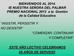 Pesentacion 2014pei - INSTITUCION EDUCATIVA NUESTRA