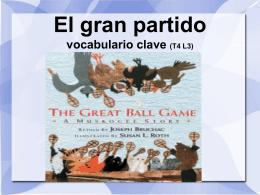 El gran partido vocabulario clave (T4 L3)