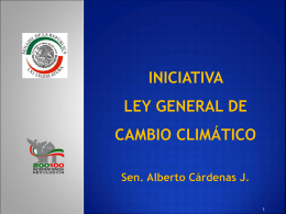 Legislación en materia de energías renovables PARTIDO ACCIÓN