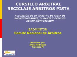 Diapositiva 1 - Federación Madrileña de Bádminton