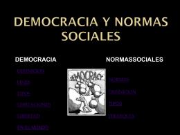Democracia y norma