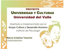 Proyecto Universidad y Culturas: educación e inclusión