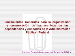 linemientos archivos.. - Instituto Tecnológico de Pachuca