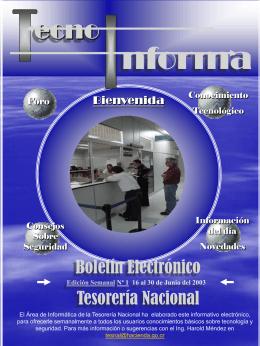 Boletín tecnoinforma 2 edición