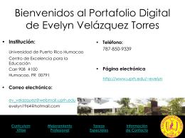 Portafolio Electrónico - Universidad de Puerto Rico Humacao