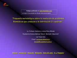 Propuesta metodológica sobre la resolución de