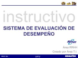 evaluar a personal (opción jefatura) - Intranet KRCC