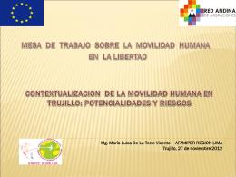 Contextualización de la movilidad humana en Trujillo