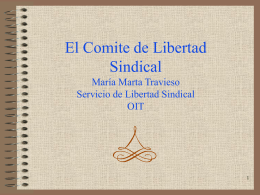El Comite de Libertad Sindical
