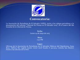 Presentación Libertad de Prensa - Asociación de Periodistas de El