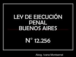 Ley de Ejecución Penal.