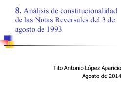 Análisis de constitucionalidad de las Notas