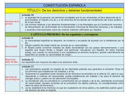 Constitución española. Título I - Consellería de Educación e