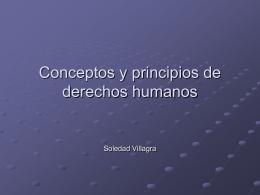 Conceptos y principios de DDHH