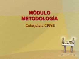 METODOLOGÌA - Vicaria Zona Oeste
